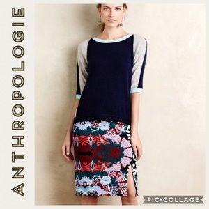Anthropologie• Maeve • Tearoom Pencil Skirt • M